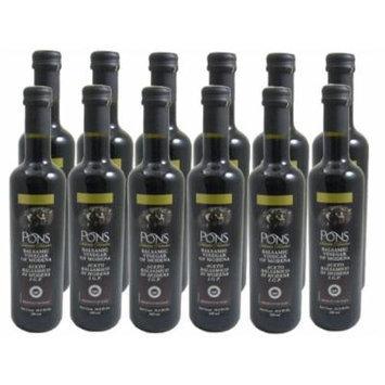 Balsamic Vinegar of Modena By Pons (Case of 12 - 16.9 Ounce Bottles)