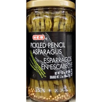 HEB Pickled Pencil Asparagus 9.87 Oz (Pack of 4)