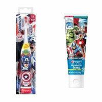 Arm & Hammer Spinbrush Kids Powered Captain America Marvel Heroes Toothbrush + Crest Pro-Health Stages Marvel Avengers Fruit Burst Flavor Kids Toothpaste 4.2 Oz