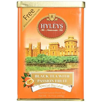 HYLEYS Tea Black Tea with Passion Fruit, 14.11 Ounce