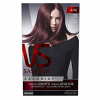 Vidal Sassoon Salonist Hair Colour Permanent Color Kit, 4/46 Dark Red Violet