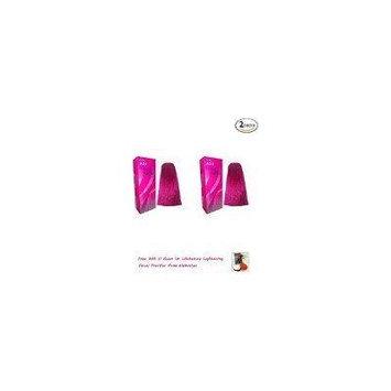 2 Packs of Berina Permanent Hair Dye Color Cream # A24 Magenta 1 Box Thailand