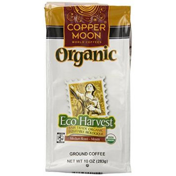 Copper Moon Eco Harvest Organic Coffee, Ground, 10-Ounce Bags (Pack of 3)