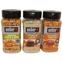 Weber 3 Pack Seasonings Bundle (7.75 oz Roasted Garlic & Herb, 8.5 oz Steak & Chop, & 8 oz Gourmet Burger)