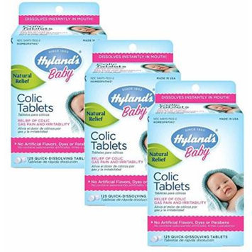 Hyland's Baby Colic Tablets, 125 Count, Pack of 3