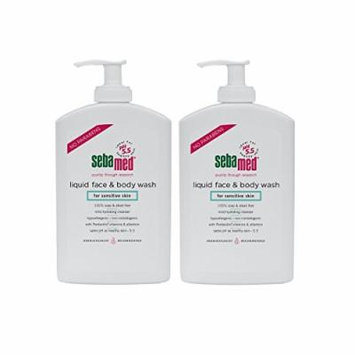 Sebamed Liquid Face & Body Wash with Pump, 400ml, 2 Pack