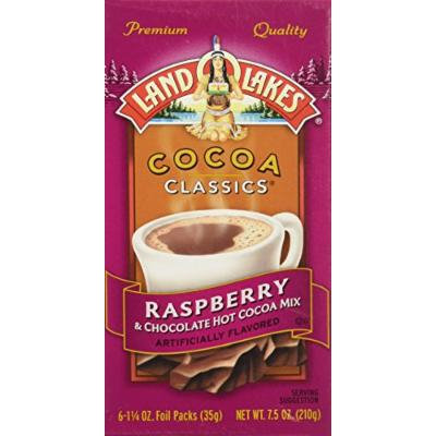 Land O'Lakes Cocoa Classics Hot Cocoa Mix Chocolate & Raspberry - (1 Box/6 Packs)