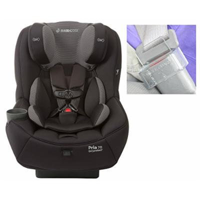 Maxi-Cosi Pria 70 Convertible Car Seat with Easy Clean Fabric PLUS Seat Buckle Safety Guard, Black Gravel