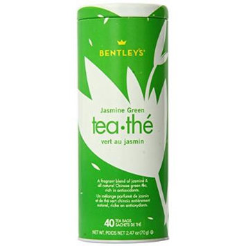 Bentley's Jasmine Green Tea, 40 Count (Pack of 6)