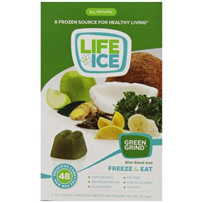 LifeIce Bite-Sized Ices, Green Grind, 4 Ounce