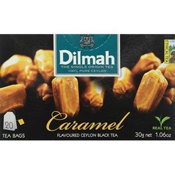Dilmah Fun Tea, Caramel, Single Origin Pure Ceylon, 20 Count String & Tag, Pack of 6