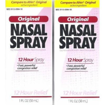 Perrigo 12 Hour Original Nasal Spray 1 Fl Oz. Qty 4 Pack Compare to Afrin