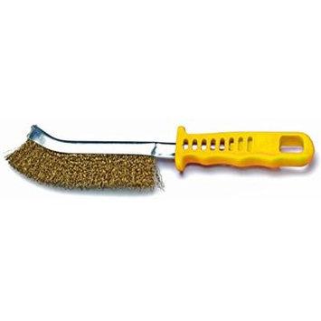 Shark 14099 Yellow Handled Brass Scratch Brush