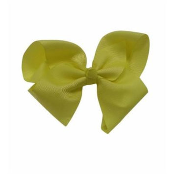 Neon Yellow Extra Large Bow Hair Clip