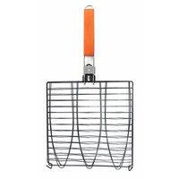 MR. BAR-B-Q 06623X Triple Non Stick Fish Basket, Black
