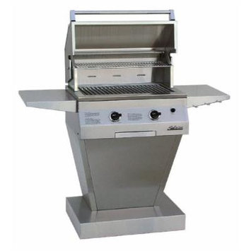 Solaire 27-Inch Basic InfraVection Propane Pedestal Grill, Stainless Steel
