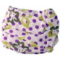 Cuteybaby All in One Modern Cloth Diaper, Purple Lime Floral, Infant
