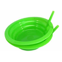 Good Living Set of 2 Sip-A-Bowl Cereal Bowls With Built-In Straw, Green, 1-pack