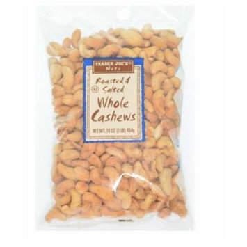 Trader Joe's Roasted and Salted Whole Cashews, 1 lb