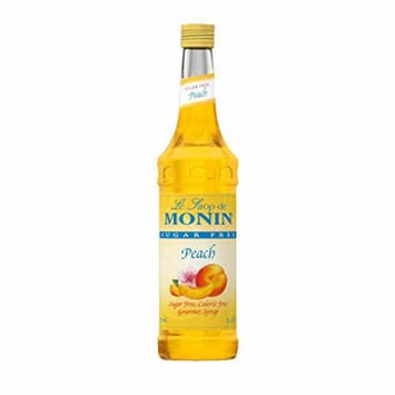 Monin Sugar-Free Peach, 33.8-Ounce Plastic Bottle (1 Liter Bottle)