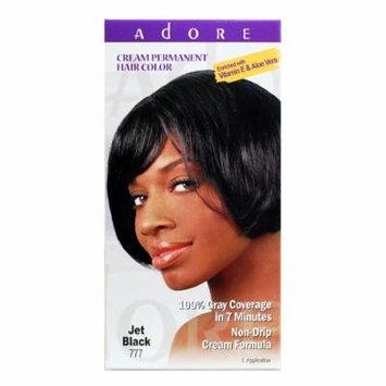 Adore Cream Permanent Hair Color 777 Jet Black enriched with Vitamin E & Aloe Vera 1 application