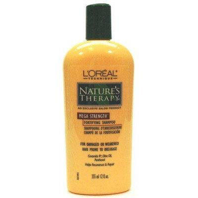 L'Oreal Nature's Therapy Mega Strength Shampoo 12 oz. (3-Pack) with Free Nail File