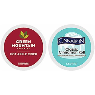 Cinnabon And Green Mountain Naturals Hot Apple Cider K-cup Combo Pack for Keurig 2.0 - 48 Count/24 Per Box
