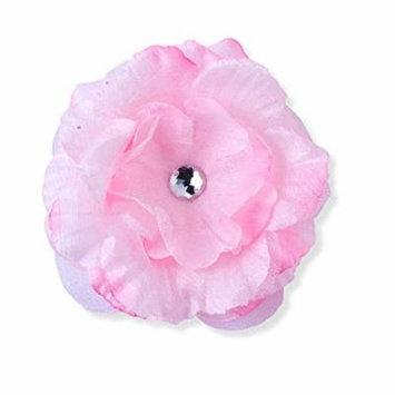 Pink Flower Childs Hair Clip