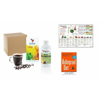 Starter Kit - Bulletproof Upgraded Coffee Jumpstart your Diet: With Coffee, XCT oil, Book and Roadmap Poster