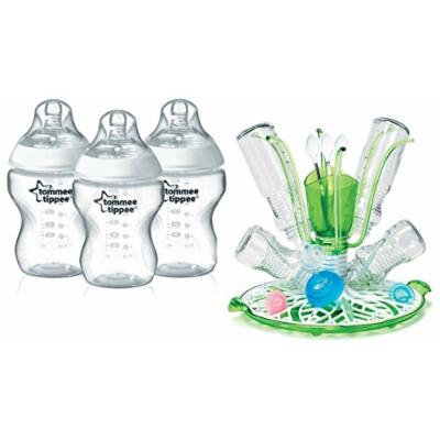 Tommee Tippee Closer To Nature Bottle 3 Pack with Sprout Drying Rack