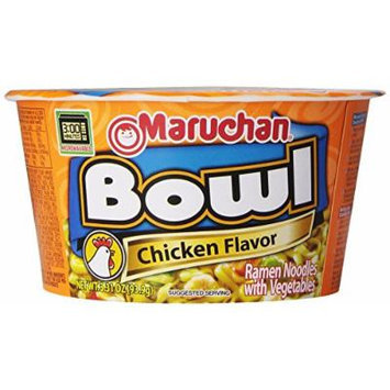 Maruchan Noodle Bowl, Chicken, 3.31 Ounce (Pack of 6)