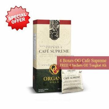 4 Box Organo Gold Gourmet Cafe Supreme Free 4 Sachets Gano Excel Tongkat Ali