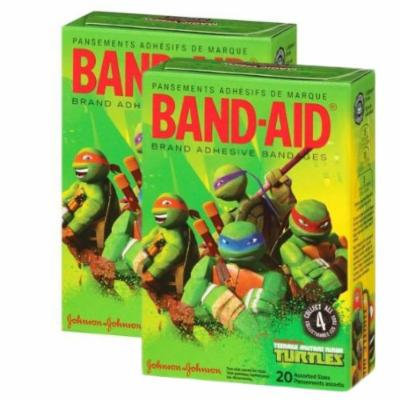 Band-aid Brand Teenage Mutant Nija Turtles - Nickelodeon 20 Count (Pack of 2)
