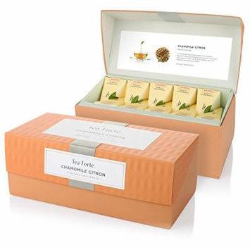 Tea Forte Presentation Box with 20 Handcrafted Pyramid Tea Infusers - Chamomile Citron Herbal Tea