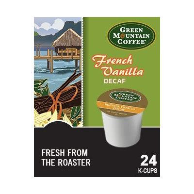 Green Mountain French Vanilla DECAF Coffee (2 Boxes of 24 K-cups)
