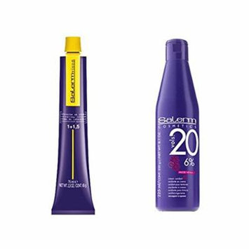 Salerm Vison Permanent Hair Color and Developer (1 Color and 1 Developer Set) (20 vol 8.1 oz, 5)