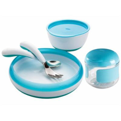 OXO Tot Feeding Set with Snack Cup, Aqua
