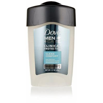 Dove Men Plus Care Clinical Protection Antiperspirant Deodorant Solid, Clean Comfort, 1.7 Ounce (Pack of 3)