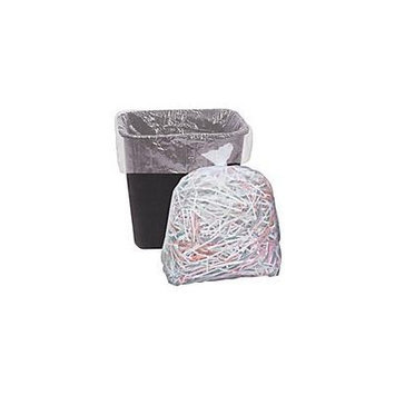 Trash Bag CLEAR 100 Count SMALL Size for 10-16 Gallon 24x33 Liner on Roll LIGHT Duty 8 Micron