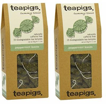 Tea Pigs Peppermint Leaves 15 Teabags (Pack of 2 Boxes)