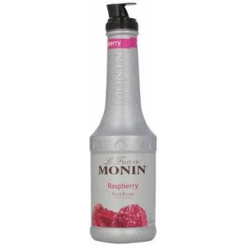 Monin Fruit Puree, Raspberry, 33.8 Ounce Bottles
