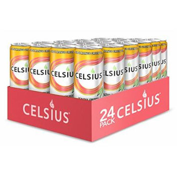 Celsius Green Tea Peach Mango, 12 -Ounce Cans (Pack of 24)