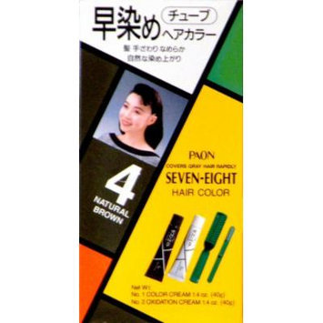 Paon Seven-Eight Permanent Hair Color Kit 4 Natural Brown