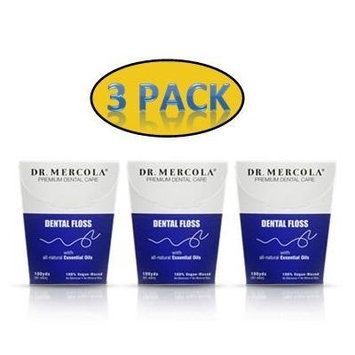 Dr. Mercola's Natural Dental Floss (100 yds): 3 Pack