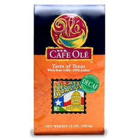HEB Cafe Ole Whole Bean Coffee 12oz Bag (Pack of 3) (Decaf Taste of Austin - Medium Dark Roast (Full City))