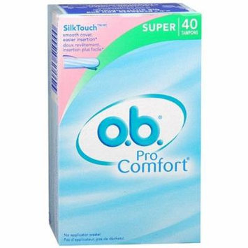 o.b. Pro Comfort Non-Applicator Tampons, Value Pack, Super, 40 ea 1 pack