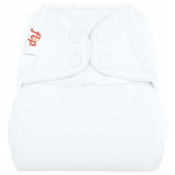 flip Cloth Diaper Cover - Snap - White - One Size