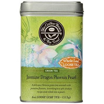 The Coffee Bean & Tea Leaf Jasmine Dragon Phoenix Pearl Green Tea, Whole Leaf Loose Tea, 4-Ounce