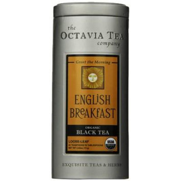 Octavia Tea English Breakfast (Organic Black Tea) Loose Tea, 2.65 Ounce Tin