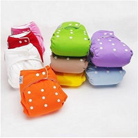 10pcs+10 Inserts Adjustable Reusable Lot Baby Washable Cloth Diaper Nappies Safe